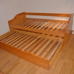 Wood pull out bed frame