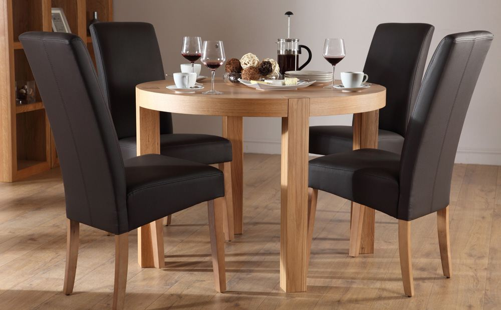 Round dining table set for 4 homesfeed for Round dining table set for 4