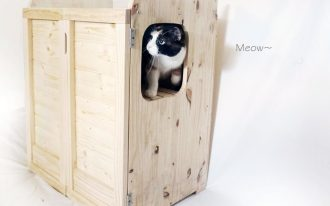 Wooden And Stylish Cat Litter Box