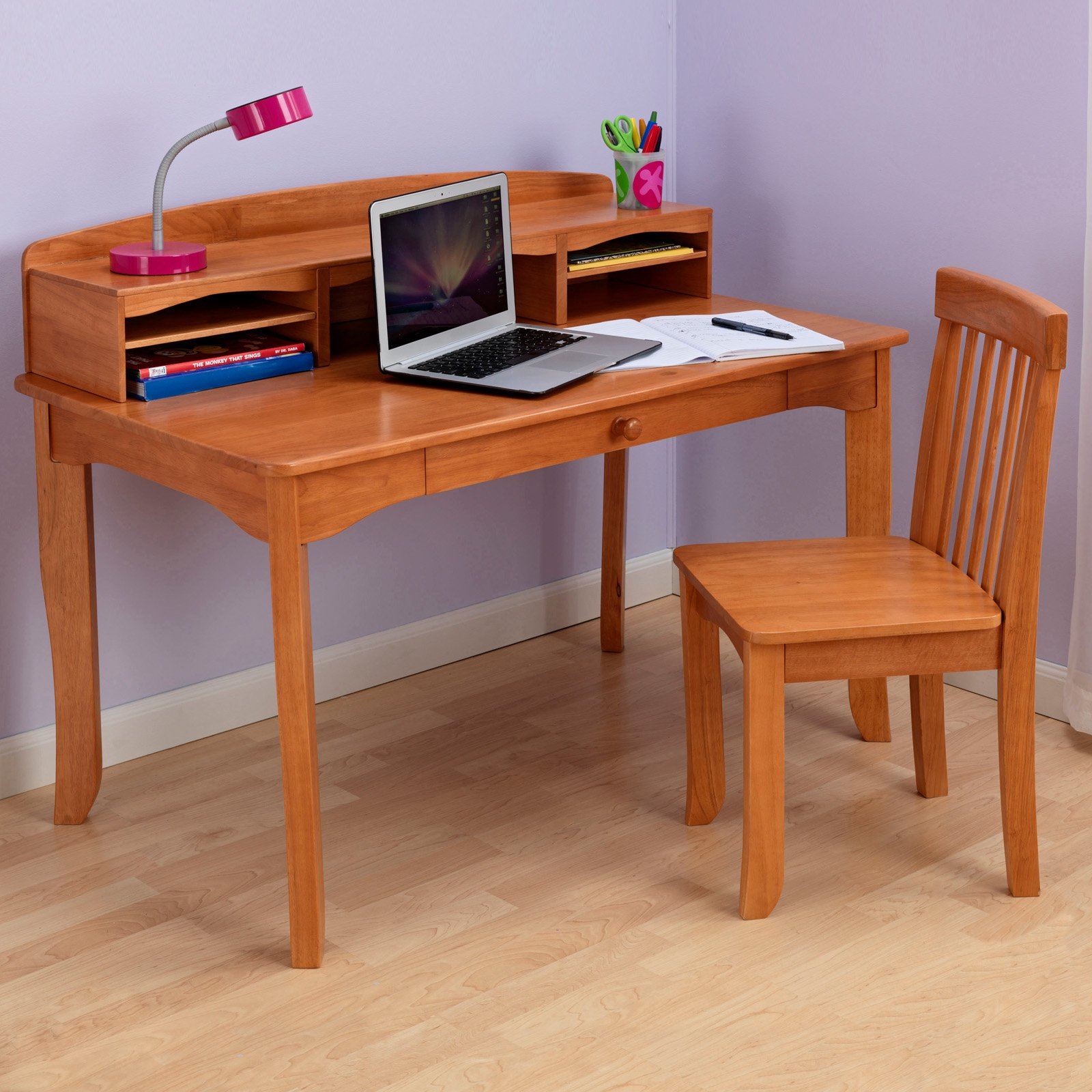 Kid desk with chair design homesfeed for Chair with storage
