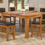 Wooden Dining Room Table And Chairs In Hardwood Floor Room