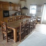 Wooden Dining Room Table And Chairs Near Kitchen Wood Set And White Rug