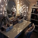 Wooden Makeup Vanity Table Beautiful Design Round Mirror Cool Chair