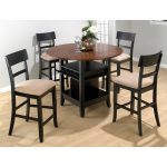 Wooden Round Table And 4 Chairs In Wood Floor