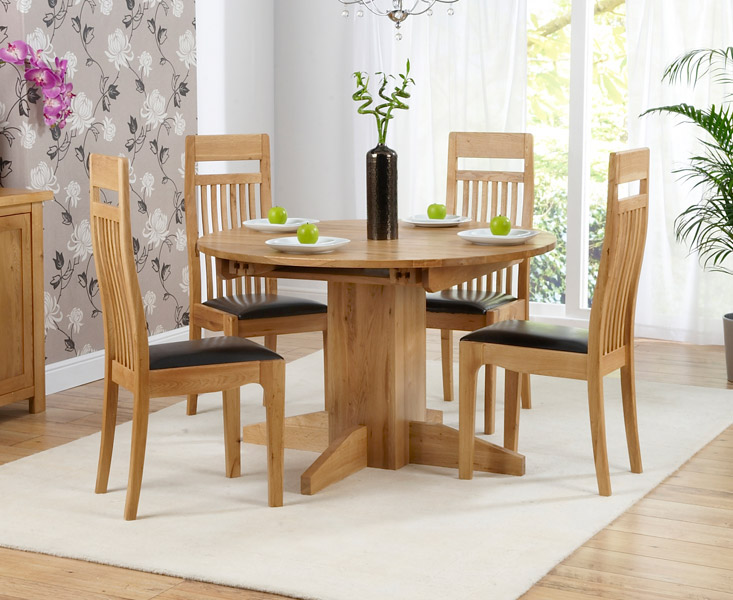 Round dining table set for 4 homesfeed for Dining room table for 4