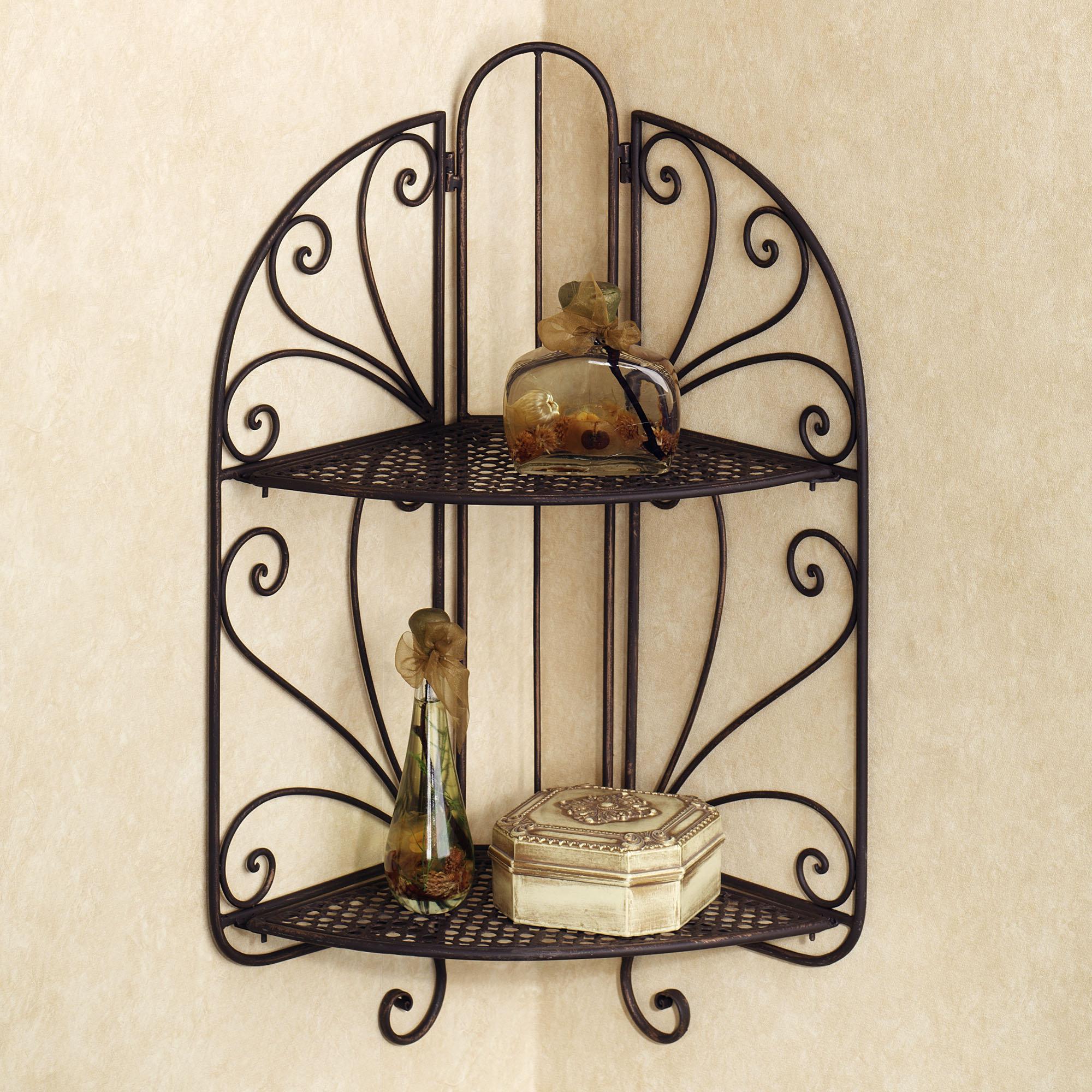 Wrought Iron Corner Shelf Ideas Homesfeed