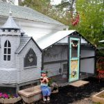 a-fancy-grey-castle-for-a-chicken-coop-in-the-backyard-made-from-unused-playhouse
