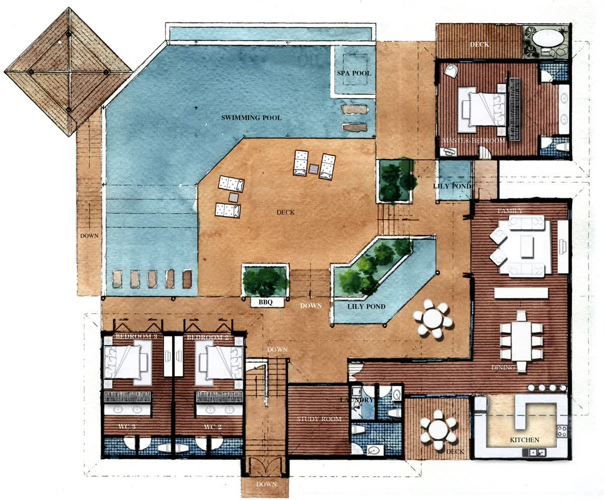 Floor plan drawing software create your own home design for Swimming pool floor plan