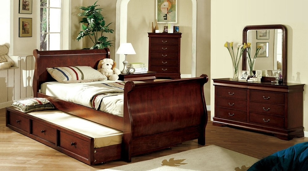 Feel Ultimate Comfort With Cherry Wood Sleigh Bed Series Homesfeed