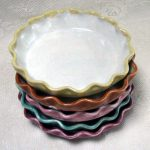 adorable adn colorful mini pie pans design in gren red pink purple and green