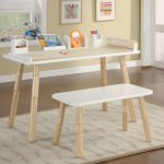 adorable creamy art table for kids idea with white top and creamy legs and patterned area rug and cream painted wall and wall pictures