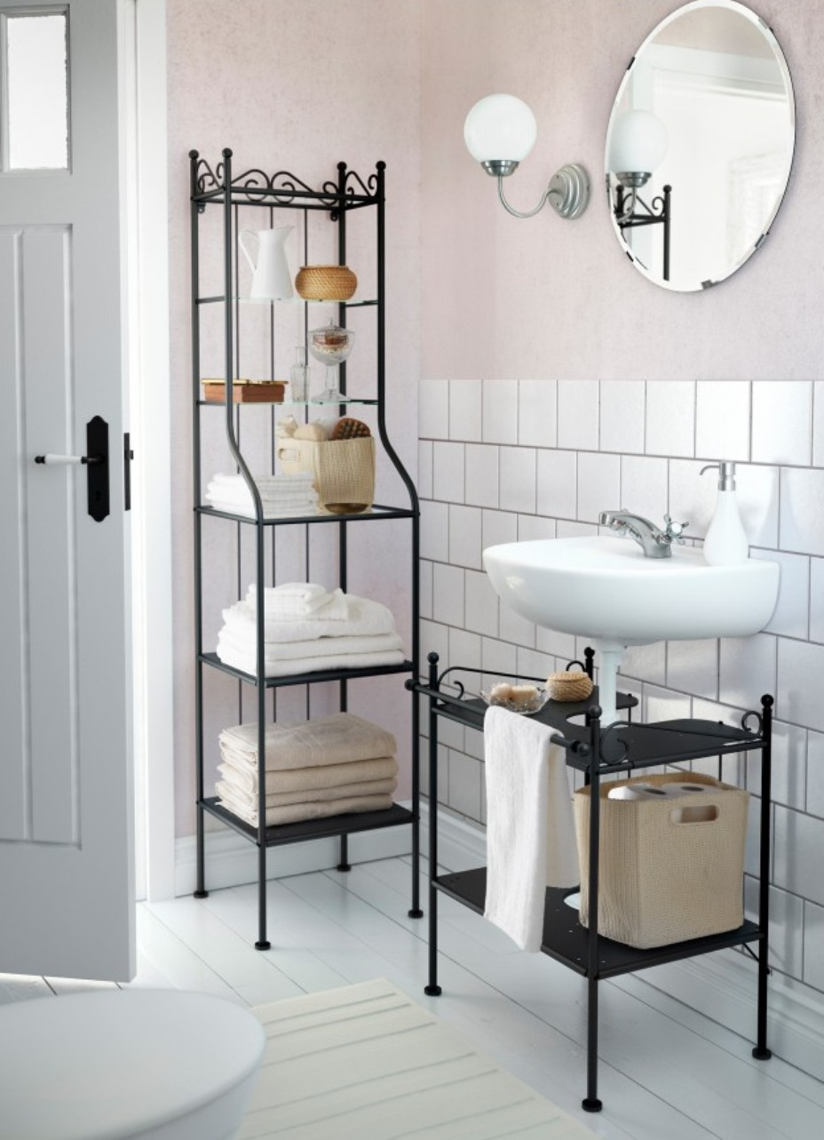 Towel Shelves In The Bathroom From Messy To Stylish
