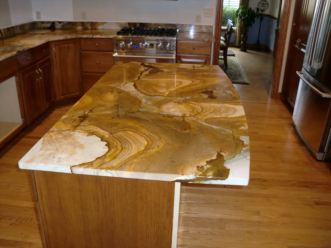 Kitchen With River Gold Granite Luxurious Accent HomesFeed
