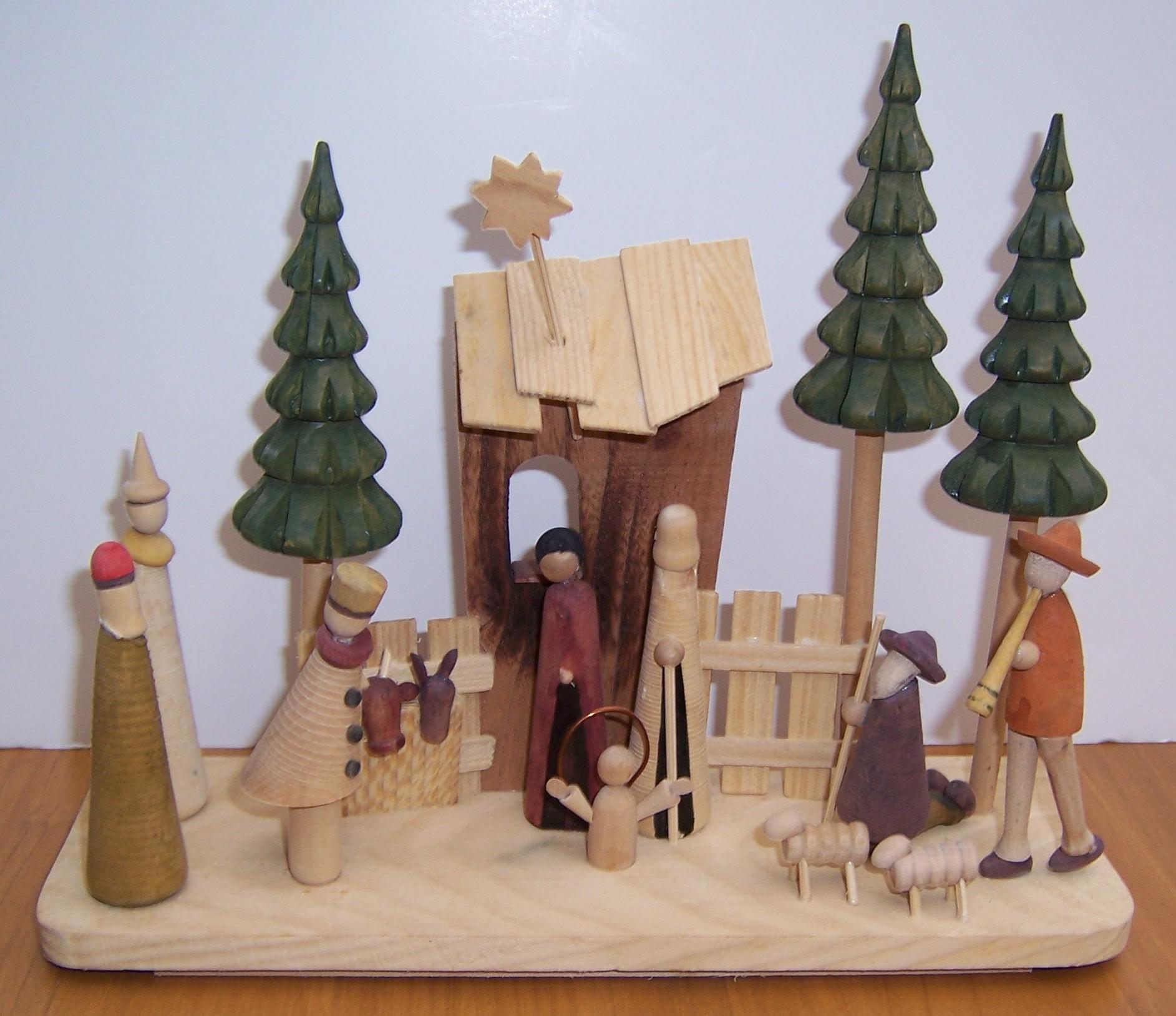 Modern Nativity Set Religious Christmas Decoration