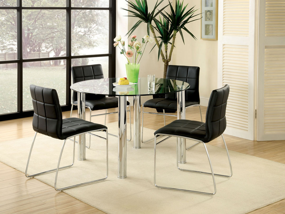 All Glass Dining Table Luxurious Set For Perfect Dinner