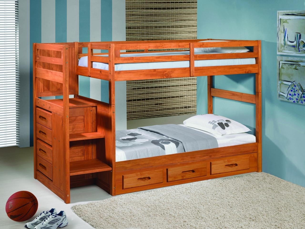 plete Your Simple Bedroom with Low profile Bunk Bed