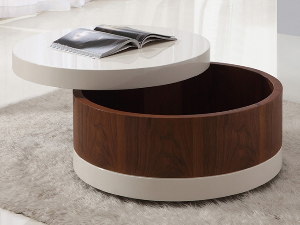 the round coffee tables with storage the simple and. Black Bedroom Furniture Sets. Home Design Ideas