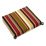 Amazing Stripe Patterned Target Outdoor Cushion With Red Brown Black And Green Color Combination