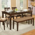 awesome small rectangular dining table for modern dining room ideas with four cozy chairs and comfy bench plus comfy rug and cool wooden floor