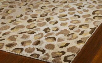 beautiful cheetah print rugs in mocha scheme best decorated on wooden floor