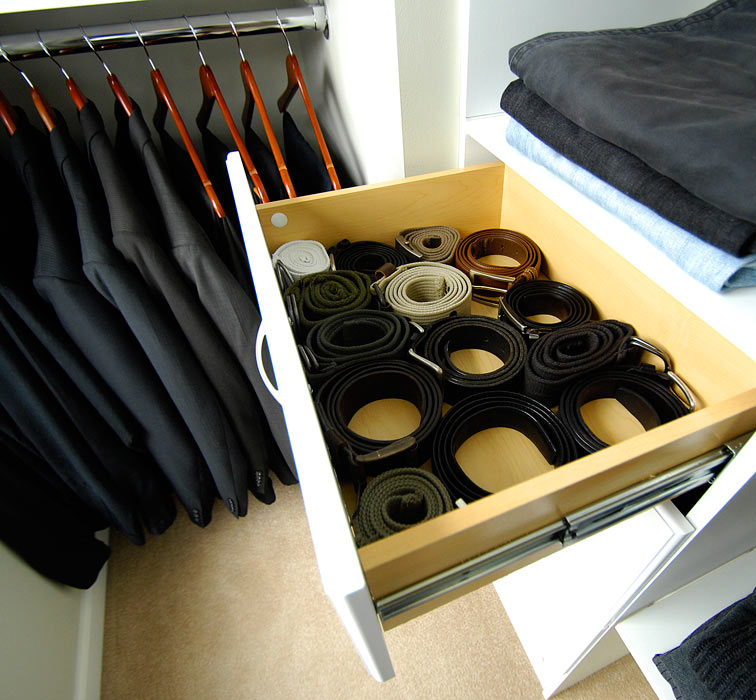 Belt Storage Ideas In Rack Decorated In Modern Closet Ideas