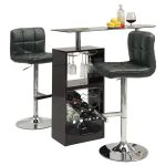 black-versatile-pub-table-set-by-wildon-home-featured-with-12-wine-rack-s-capacity-and-frosted-glass-top-also-shelf-with-stemware-storage