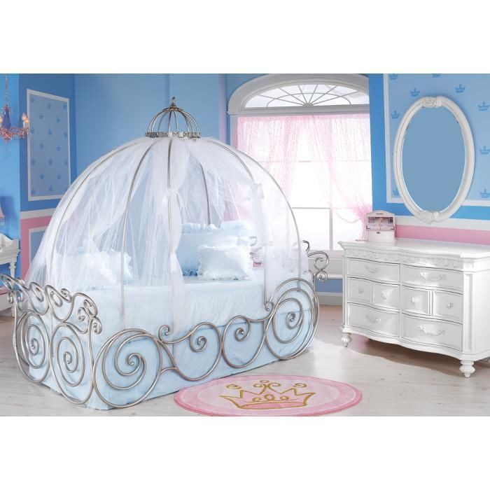 blue-carriege-canopy-bed-for-girls-near-white-  sc 1 st  HomesFeed & Princess and Fairy Tale Canopy Bed Concepts for Little Girls ...