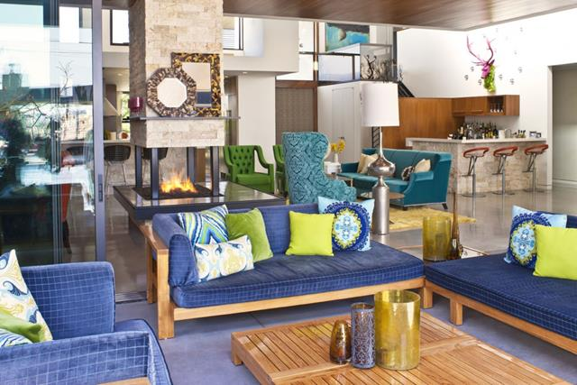 Blue Living Room With Best