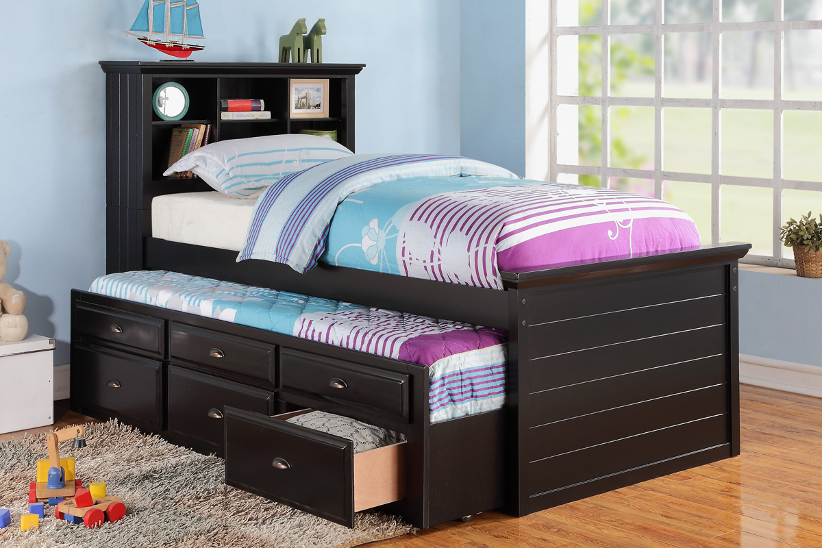 Pop Up Trundle Bed Frame Nice Accent For Playful Bedroom