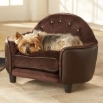 brown stylish dog beds for small dogs shaped like a chair