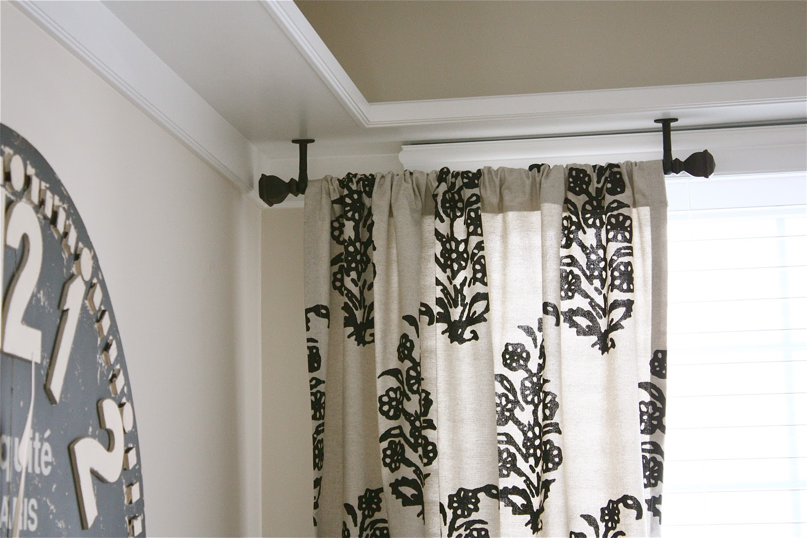 Bay window curtain rod ceiling mount - Emejing Ceiling Mount Curtain Rods Gallery Marketuganda Com