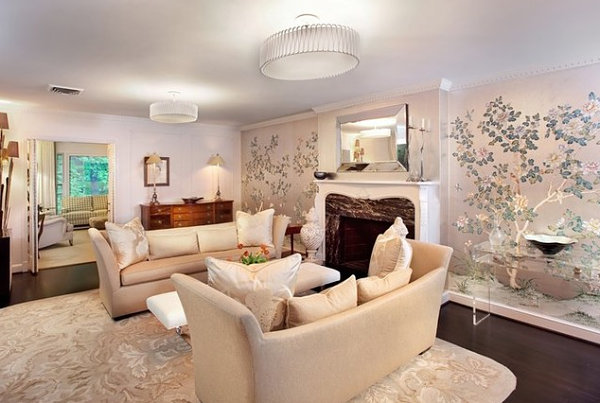 Cherry Blossom Tree Wallpaper For Elegant Living Room