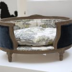 classy stylish dog beds with blue frame and white comfy bed for your lovely dog