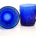 Cobalt Blue Drinking Glasses With Set Of 4 Named Vereco France Cobalt Blue Mugs It Is A Vintage Item From 1950s And Ships From New York