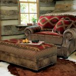 comfortable-oversized-chair-with-ottoman-in-Native-American-theme-with-upholstery-blend-in-very-well-near-window-and-windosill