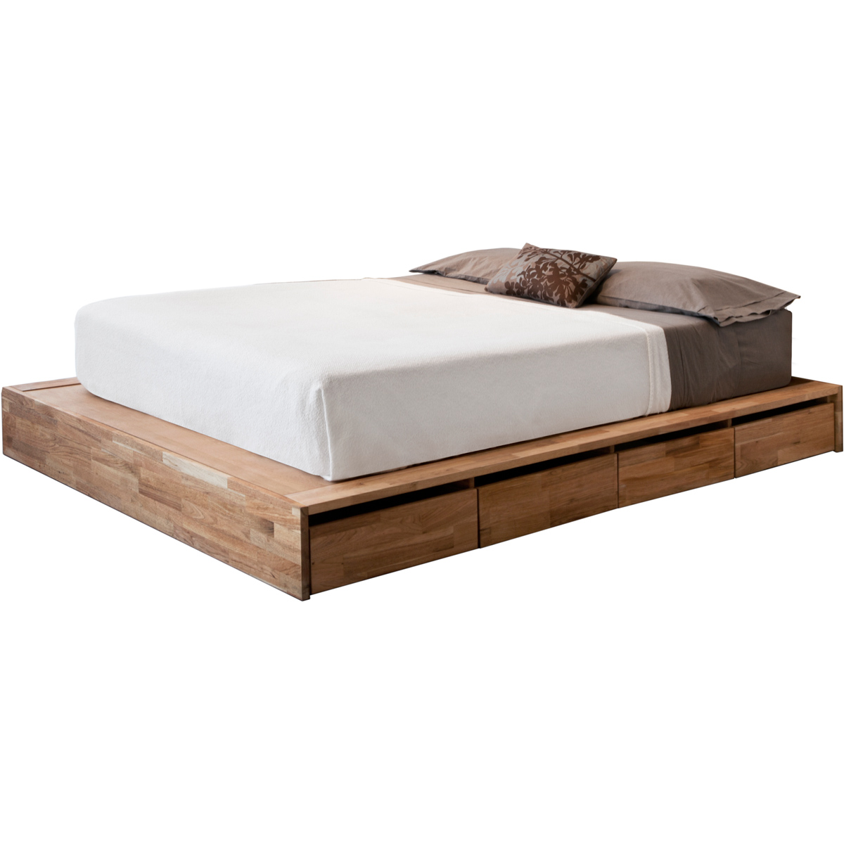 The comfortable and beautiful designs of ikea bed frame for Platform bed with drawers ikea