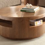 contemporary round coffee tables with storage plus beige rug for modern living room ideas