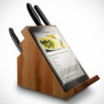 cool-and-creative-knife-block-with-a-place-for-tablet-and-Ipads-from-wood-material