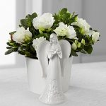 cool-elelgant-white-azalea-for-indoor-plants-with-mini-white-angel-statue-on-the-white-table-surrounded-by-white-wall