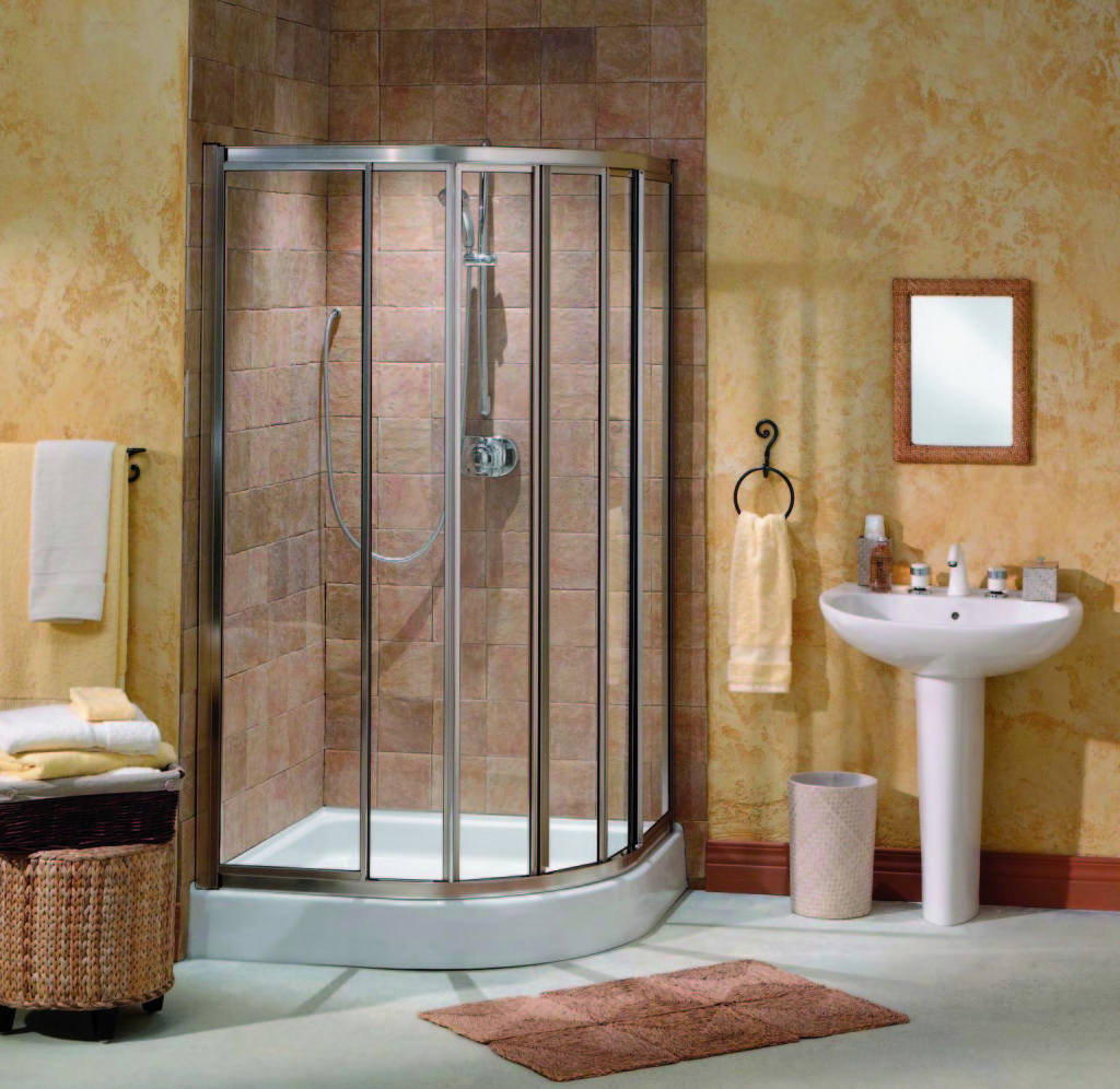 Corner shower units for small bathroom solving space for Bathroom designs with corner bath