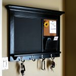 Creative And Stylish Key Rack Hanging Mail Organizer Storage Storage Framed Key Hook And Message Center Shelf