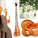 Creative Gold And Bright Orange Coat Rack With Anchor Design For Outdoor And Indoor Also Brown Coat