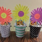 cute small bucket ice cream design in polka dot and stripe pattern with snow shape on the top for daycare teacher gift design
