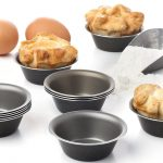 deeper mini pie pans design with black color and glossy look