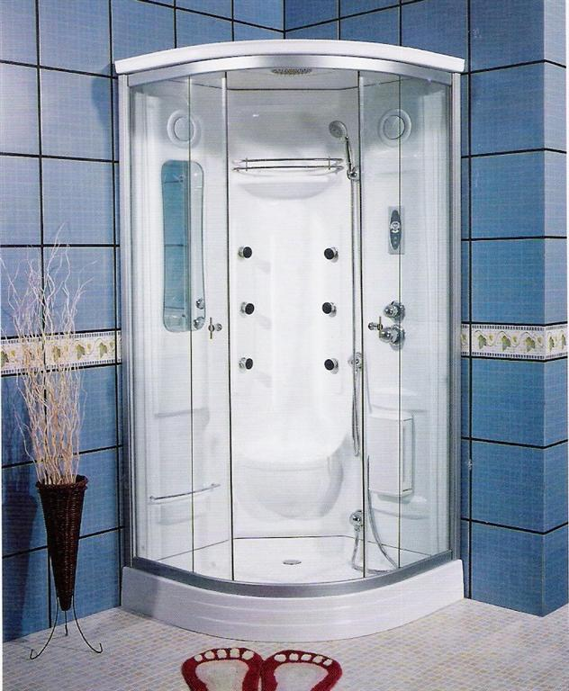 effortless bathroom with fascinating corner shower units with modern glass door and blue tilling wall plus - Small Bathroom Remodel Corner Shower
