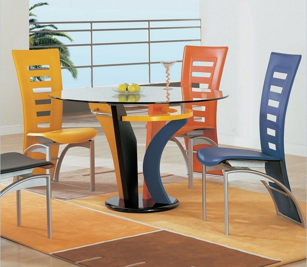 Fascinating dining room chair ideas homesfeed - Colorful dining room tables ...