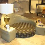 elegant and stylish dog beds with comfy polca dot mattress and lamp aside the bed
