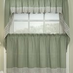 elegant gray jcpenney kitchen curtain idea with polka dot gray bottom design with upper and lower side