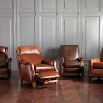ethan allen leather furniture brown recliners for comfy home decor