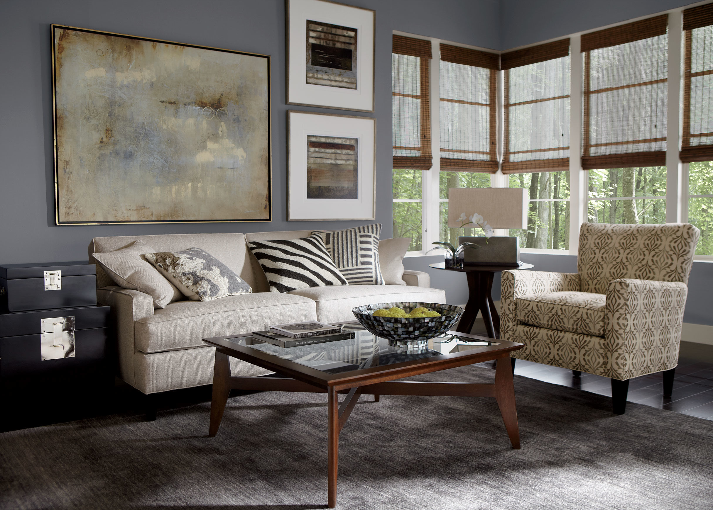 Ethan Allen leather Furniture for Charming and fortable Home